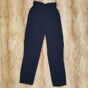 Johnathan Simkhai Navy Side Split Pants